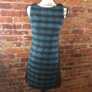 Christian Francis Roth Fleece Plaid & Tweed Dress